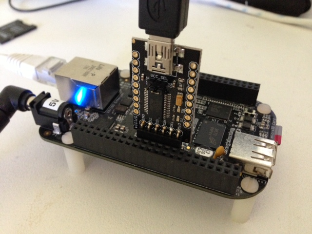Beaglebone Black with DFRobot FTDI cable
