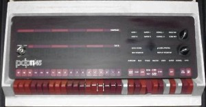 PDP11/45 console. Image courtesy of John Holden's PDP11 page.
