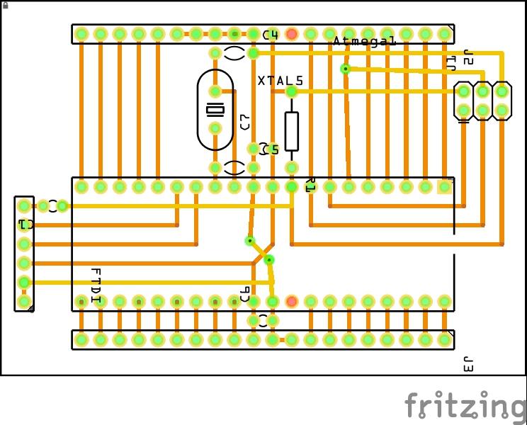 Fritzing layout